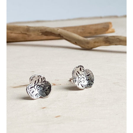Tiny Flowers ~ Sterling Silver Flower Studs - Aprilierre