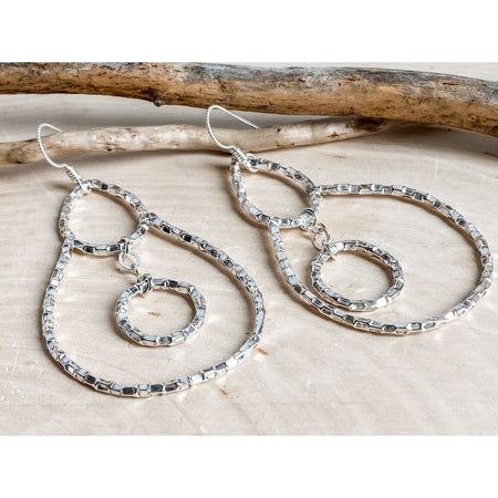 Hollywood Dreams ~Sterling Silver Statement Earrings. - Aprilierre