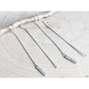 Earring Threads ~ Hammered Sterling Silver Sticks - Aprilierre