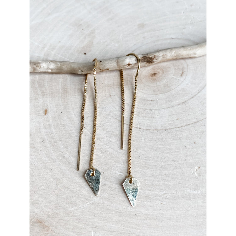 Earring Threads ~ 14 Gold-filled Arrow - Aprilierre