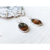 #5 Orsina~Sterling Silver Statement Earrings with Jasper Bezels - Aprilierre
