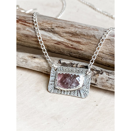 """The Tender Poem"" ~Sterling Silver Tourmaline Necklace"