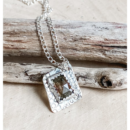 "The ""Vibrant Spirit"" Sterling silver Tourmaline Pendant necklace - Aprilierre"