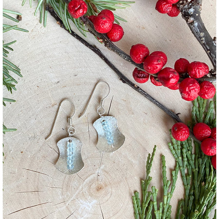 """Awaken Balance"" ~Sterling Silver Earrings with Faceted Aquamarines - Aprilierre"