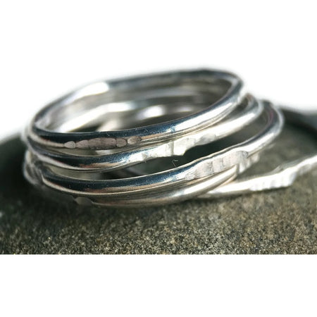 The Square Stack Ring ~ Sterling Silver - Aprilierre