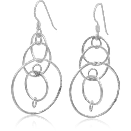 Sterling Silver Kinetic Circle Earring Dangles - Aprilierre