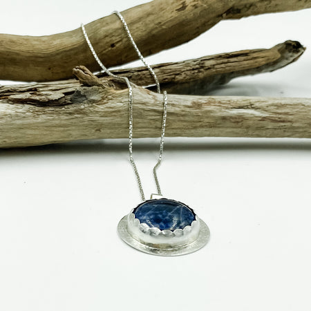Kind of Blue ~ Sterling Silver long necklace with Sodalite Gemstone - Aprilierre