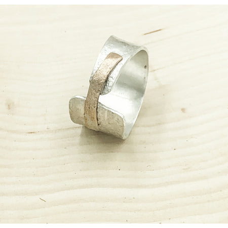 Lacuna Ring Sterling Silver and Gold - Aprilierre