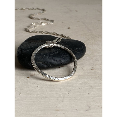 Le Circle ~Sterling Silver  Necklace - Aprilierre
