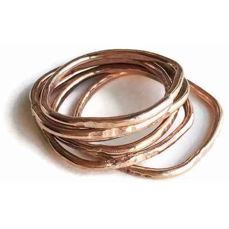 The Square Stack Ring  Rose Gold - Aprilierre