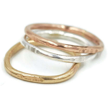 Stacking Ring Mixed Metal Set of Three - Aprilierre