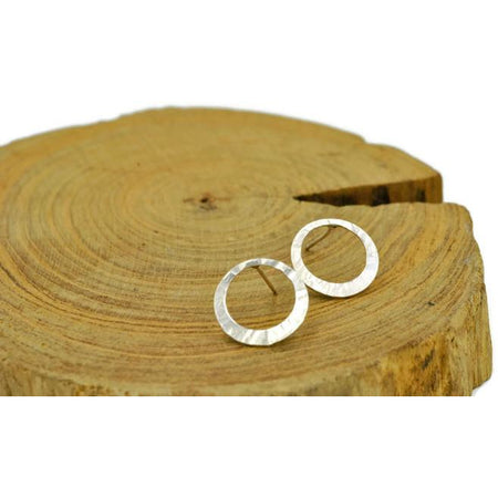 Sterling Silver Circle Stud Earrings - Aprilierre