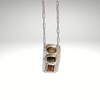 """The Enchanted Hymn"" Sterling Silver with Watermelon Tourmalines  Necklace - Aprilierre"