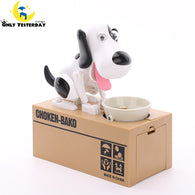 Cute Dog Bowl Digital Coin Piggy Bank Safe