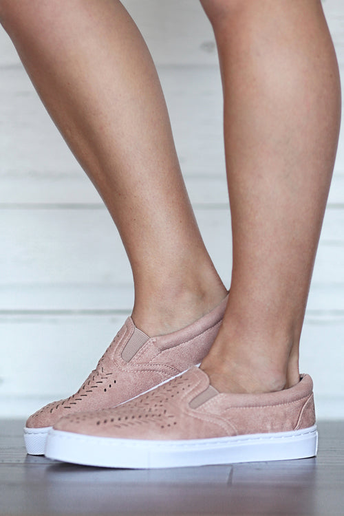 Blush Cut-Out Sneakers