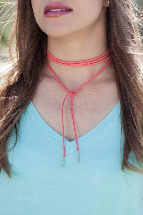 Suede Lace-Up Choker