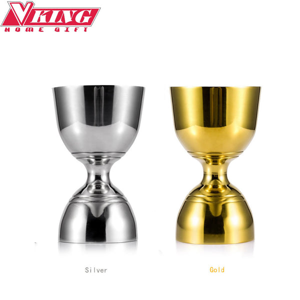 Gold/Silver Stainless Steel Cocktail Jigger 30ml/60ml