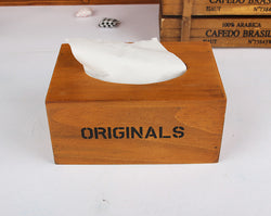 1PC Vintage Wooden Tissue Box