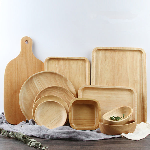 Wooden Serving Trays (Various shapes)