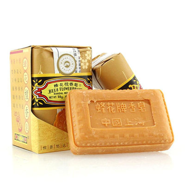 1PC beauty soap bee flower and sandalwood