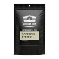 Soft and Tender Style Beef Jerky - Scorpion Pepper by Bricktown Jerky