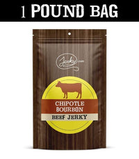 All-Natural Beef Jerky - Chipotle Bourbon - 1 Pound Bag by Jerky.com