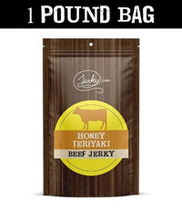 All-Natural Beef Jerky - Honey Teriyaki - 1 Pound Bag by Jerky.com