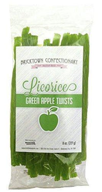 Old Fashioned Licorice Twists - Green Apple by Bricktown Confectionary