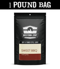 Soft and Tender Style Beef Jerky - Sweet BBQ - 1 Pound Bag by Bricktown Jerky