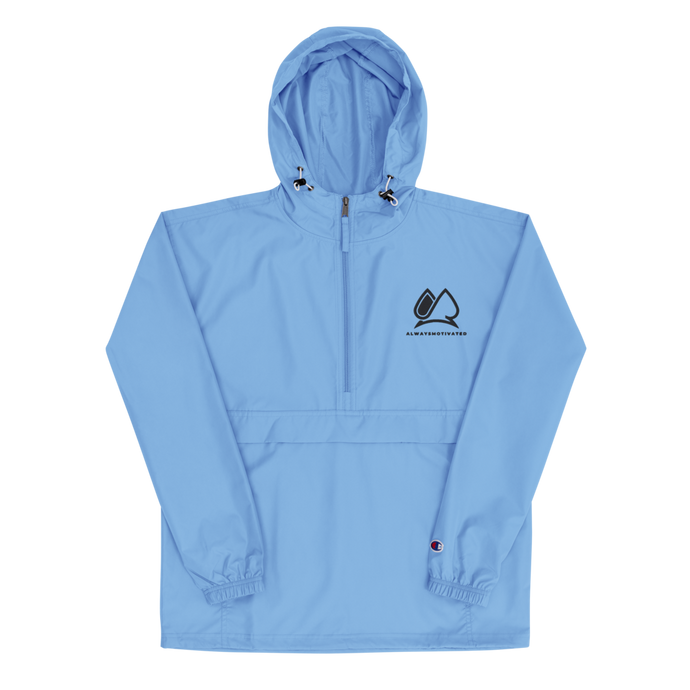 Always Motivated x Champion Packable Jacket - Light Blue/Black