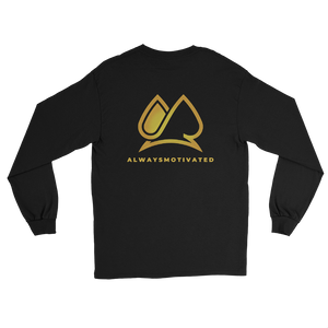 Stay Motivated Long Sleeve Shirt - Black/Gold