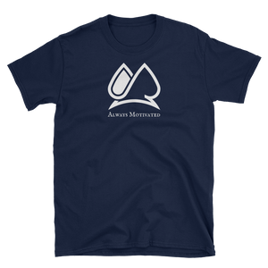 "Classic ""AM"" Short Sleeve Tee (Navy)"