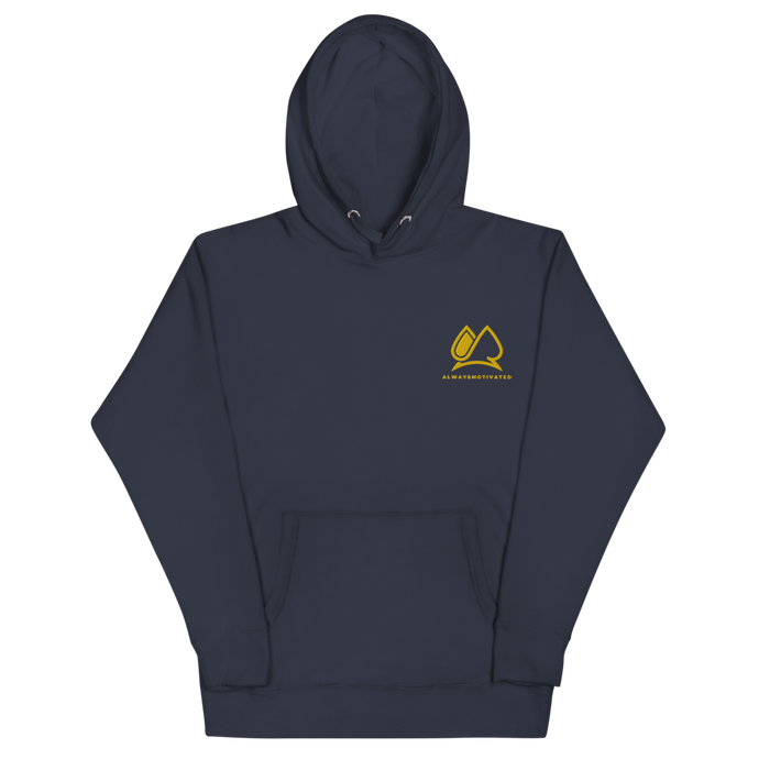 Always Motivated Hoodie - Navy/Gold