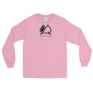 "Classic ""AM"" Long  Sleeve Tee (Pink)"