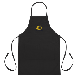 Always Motivated Apron  (Black/Gold)