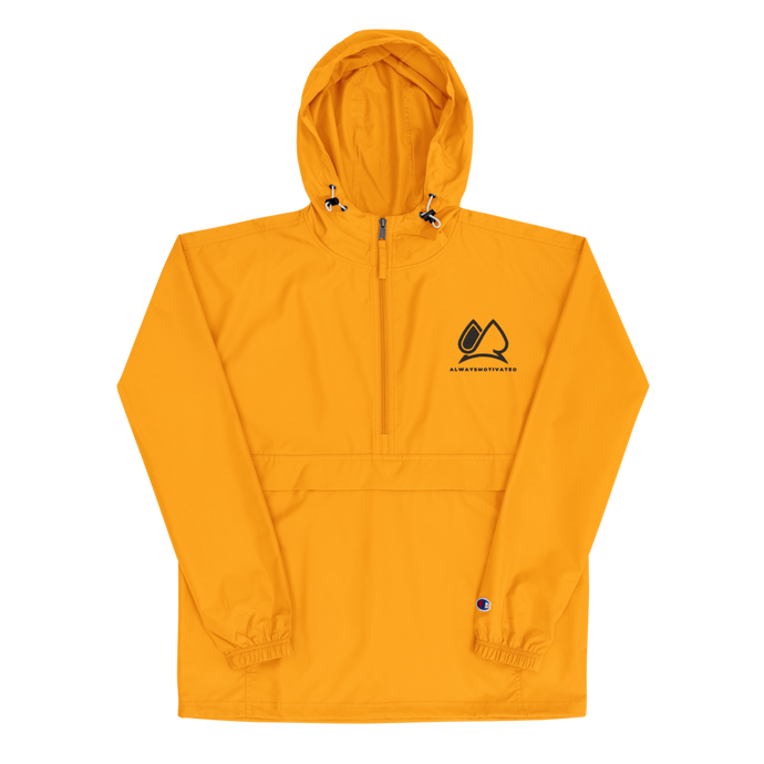 Always Motivated x  Champion Packable Jacket- Gold/Black