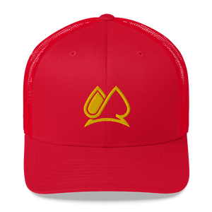 Classic Logo AM Trucker Cap (RED)