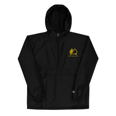Always Motivated x Champion Packable Jacket - Black/Gold