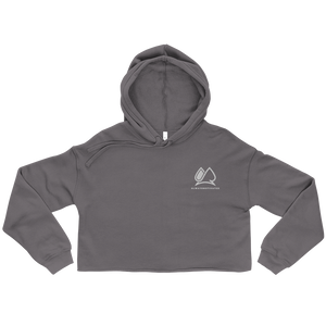 Always Motivated Women's Crop Hoodie - Grey/White