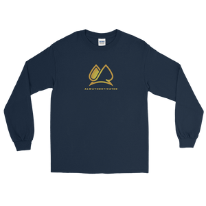 "Classic ""AM"" Long Sleeve Tee (Navy)"