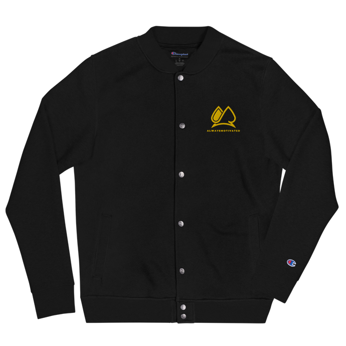 Always Motivated x Champion - Bomber Jacket -Black/Gold