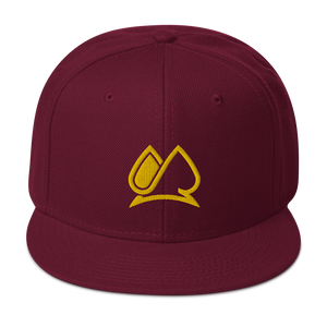 Always Motivated Logo Snapback Adjustable Hat - (Burgundy/Gold)