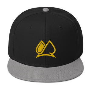 Always Motivated Logo Snapback Adjustable Hat - (Black-Grey/Gold)