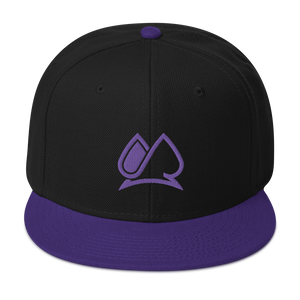 Always Motivated Logo Snapback Adjustable Hat - Black/Purple