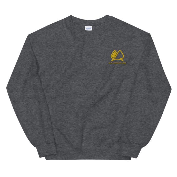 Always Motivated Sweatshirt -Charcoal/Gold