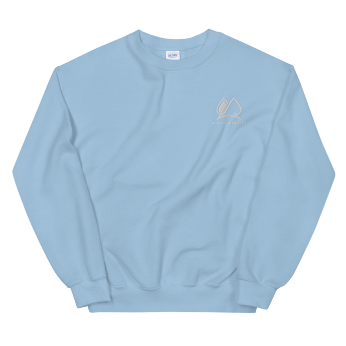 Always Motivated Sweatshirt -Light-Bleu/White