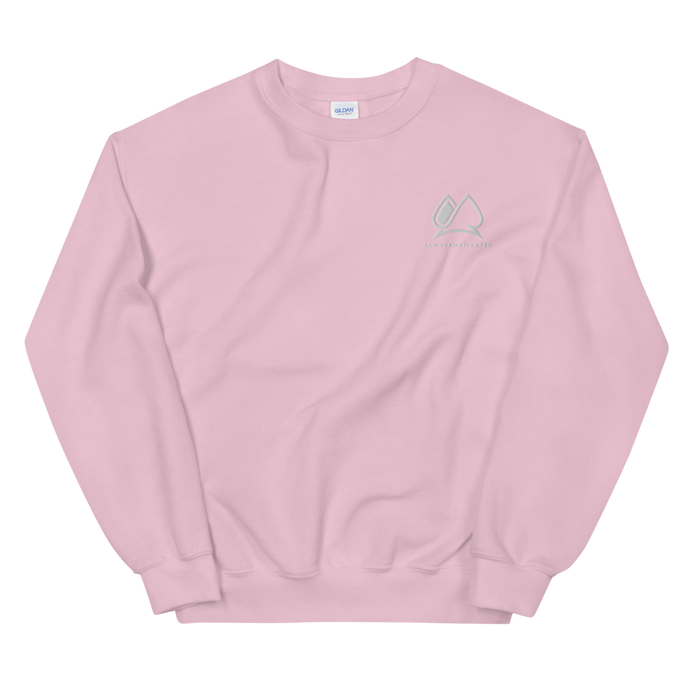 Always Motivated Sweatshirt -Pink/White