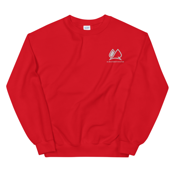 Always Motivated Sweatshirt -Red/White