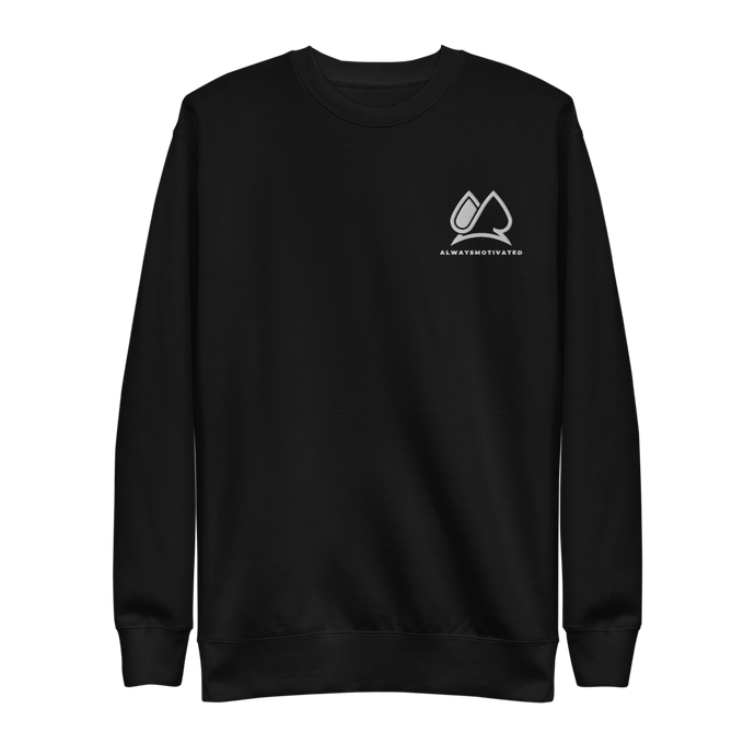 Always Motivated Sweatshirt - Black/White