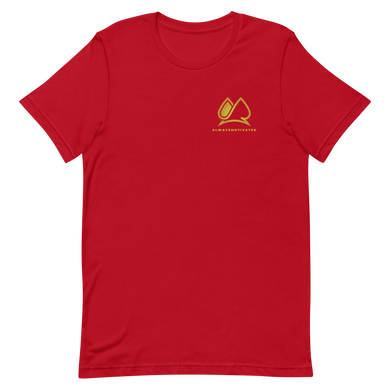 Always Motivated T-Shirt (Red/Gold)